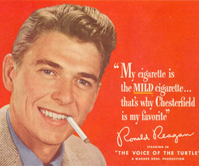 Before Becoming President, Ronald Reagan Was a Paid Cigarette Model
