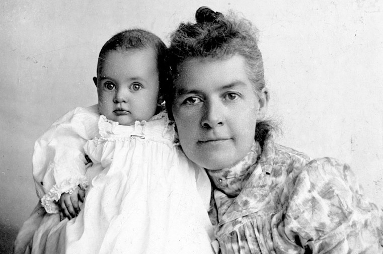 Utah State Senator Martha Hughes Cannon with daughter Mattie